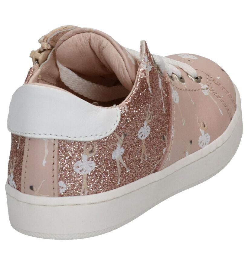 Roze Lage Sneakers K3 in leer (270852)