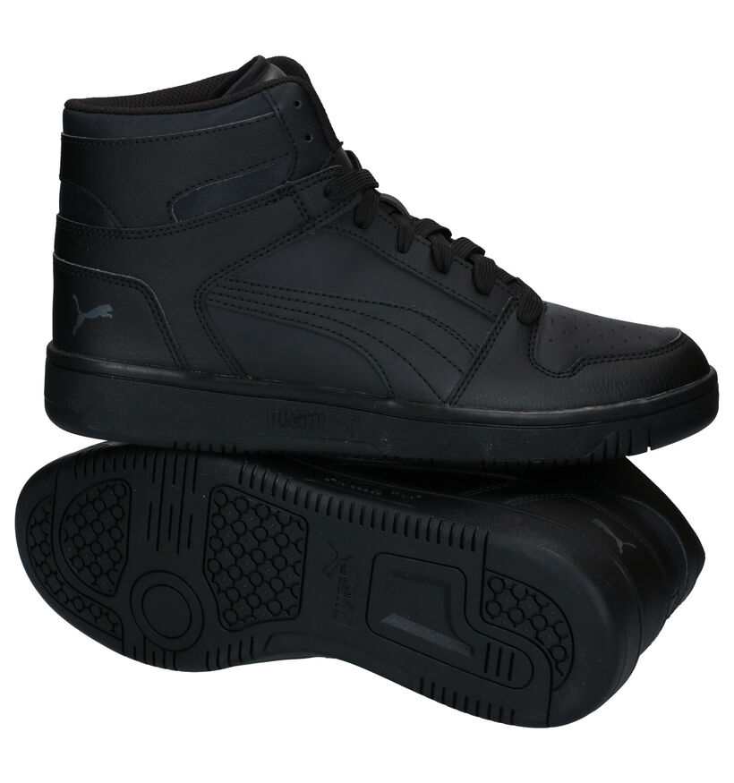 Puma Rebound Zwarte Sneakers in kunstleer (280798)