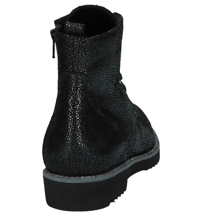 Zwarte Boots met Glitters Softwaves in daim (233076)