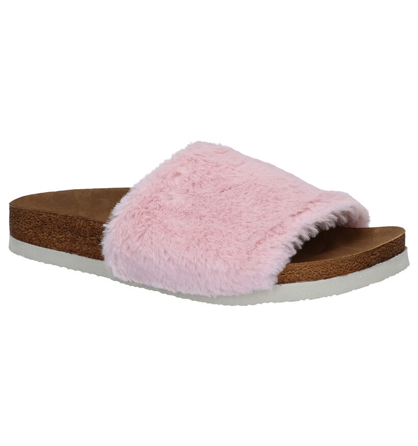 Inuovo Lucy Roze Slippers in stof (292709)