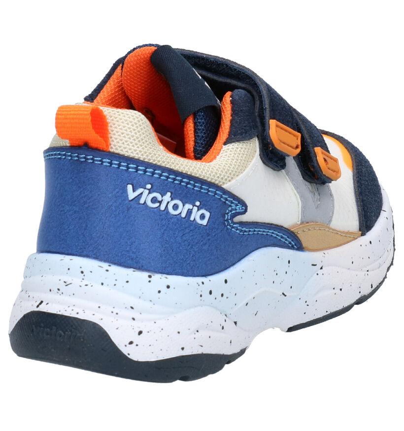 Victoria Baskets basses en Bleu en simili cuir (271367)