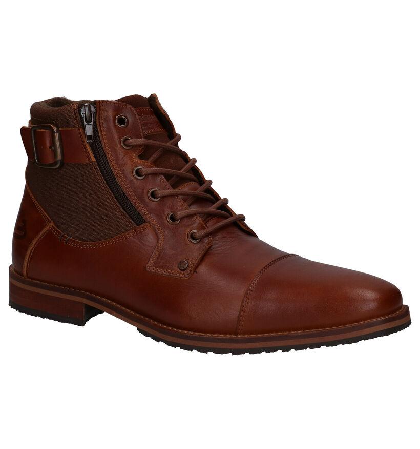 Bullboxer Chaussures hautes en Cognac en cuir (279117)
