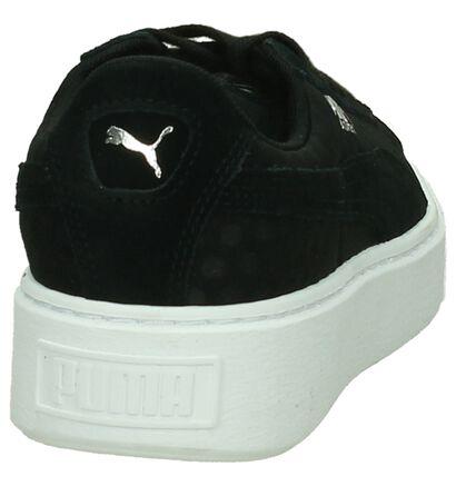 Puma Basket Platform Zwarte Sneakers, Zwart, pdp