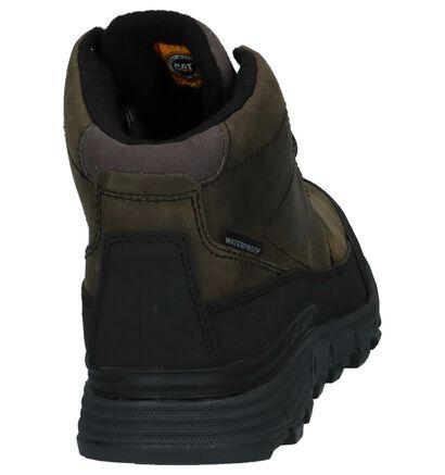 Caterpillar Chaussures hautes en Vert foncé en cuir (225474)