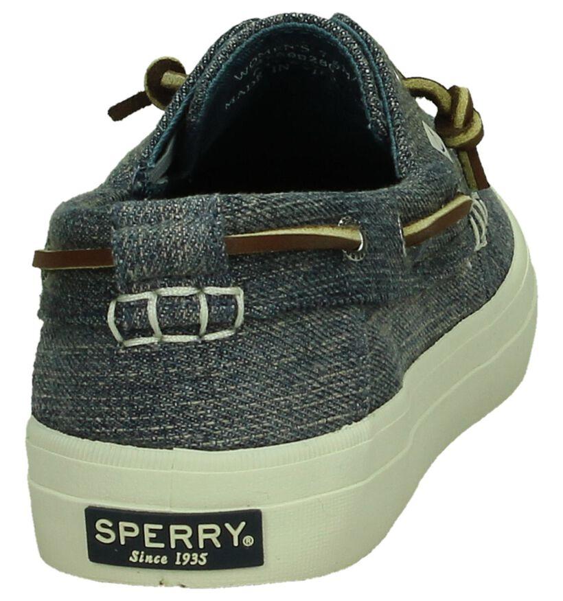 Sperry Chaussures bateau en Bleu en textile (191885)