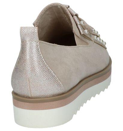 Marco Tozzi Chaussures slip-on en Beige clair en textile (214452)