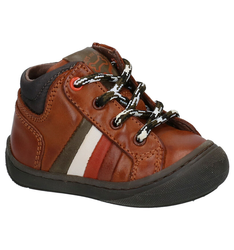 STONES and BONES Vaso Chaussures en Cognac en cuir (278878)