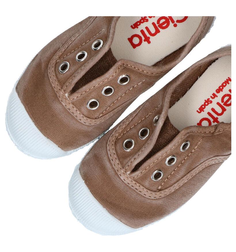 Cienta Okergele Sneakers in stof (290090)