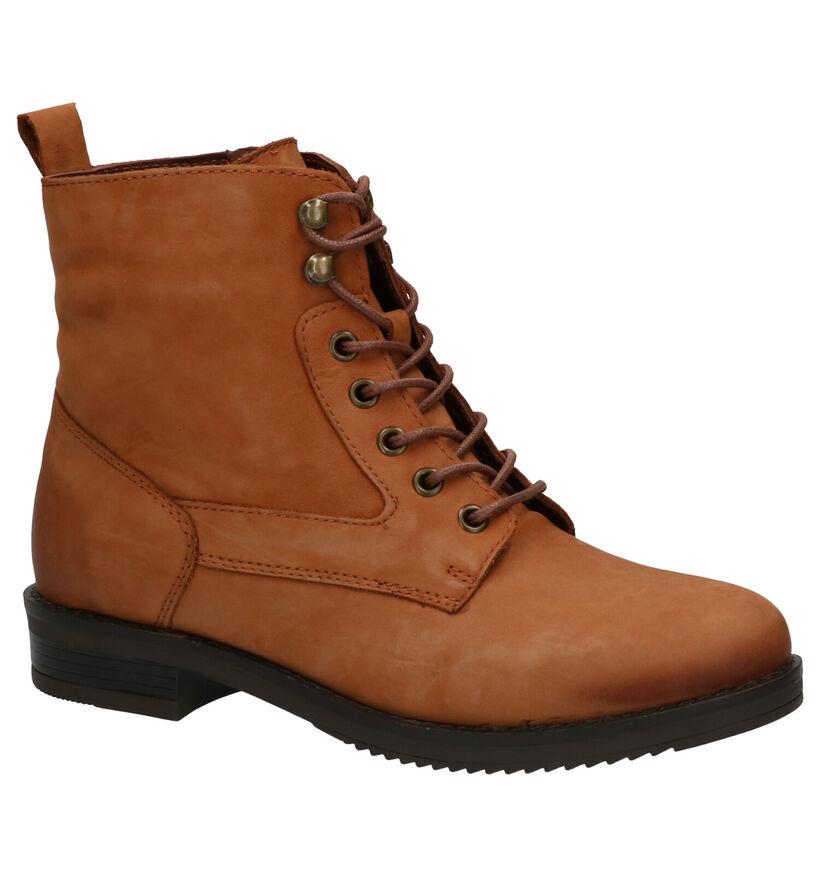 Poelman Conan Cognac Boots in nubuck (263389)