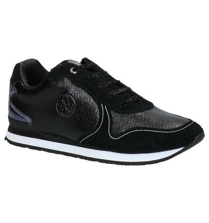 Guess Tessa Zwarte Sneakers in daim (256666)