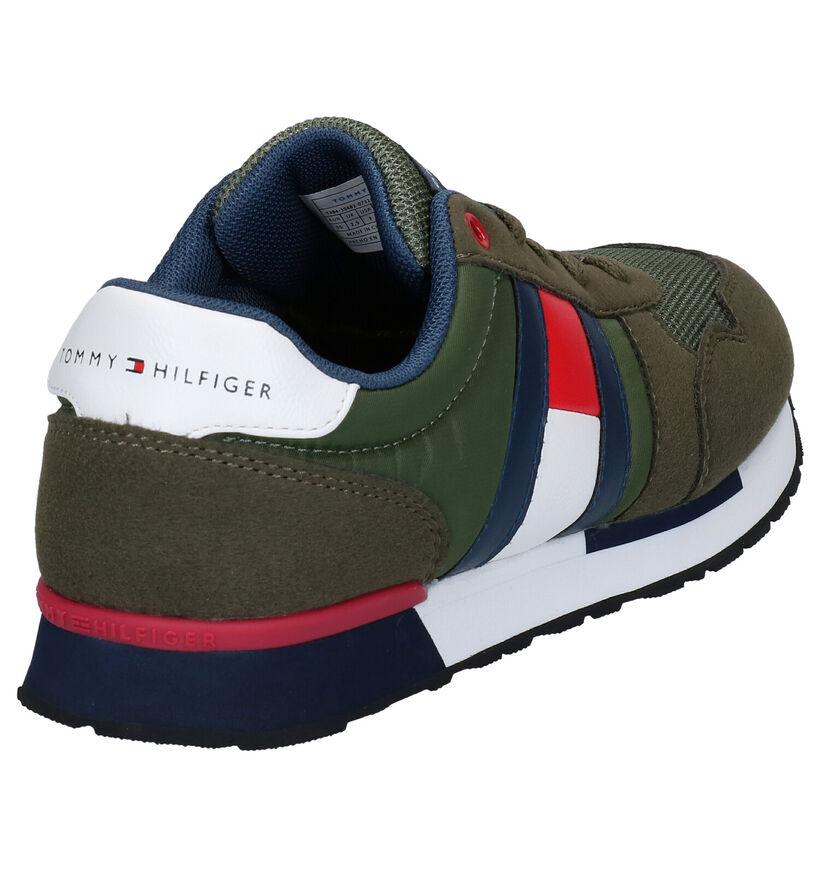 Donkerblauwe Sneakers Tommy Hilfiger in stof (266585)