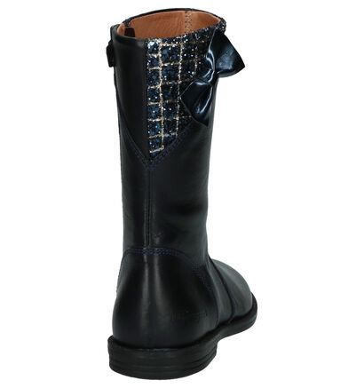 Romagnoli Lange Laarzen Donkerblauw in leer (204026)