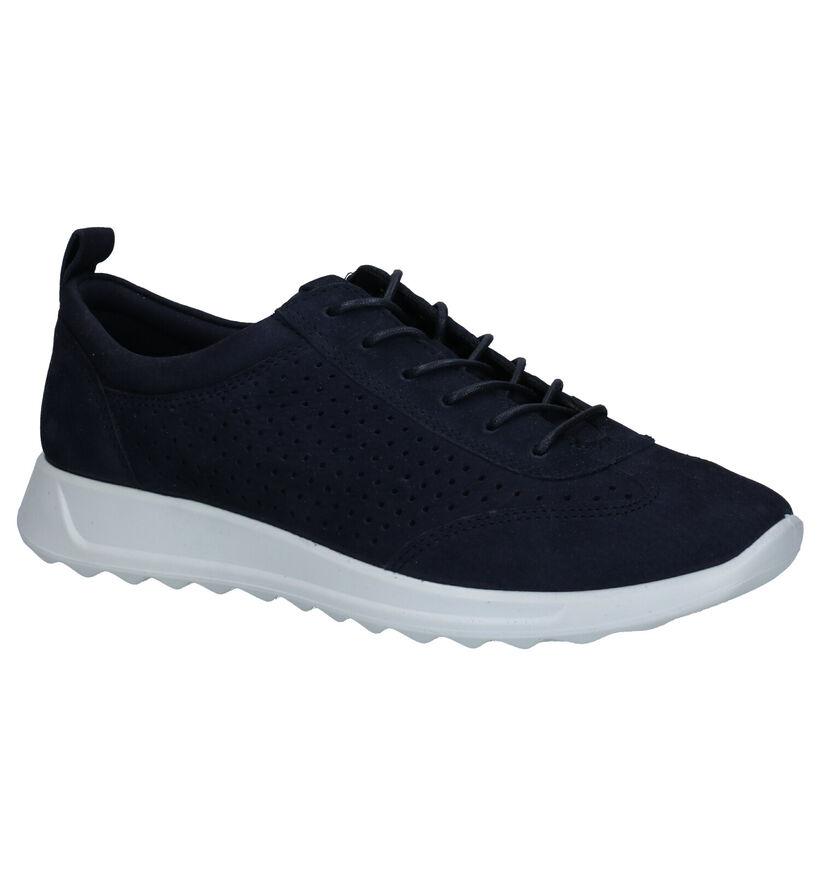 ECCO Flexure Runner Chaussures à Lacets en Bleu en nubuck (269705)