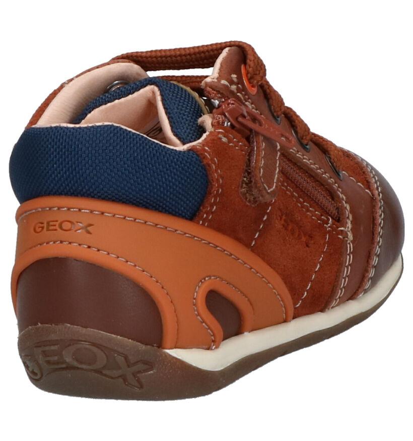 Geox Chaussures hautes en Cognac en cuir (254524)