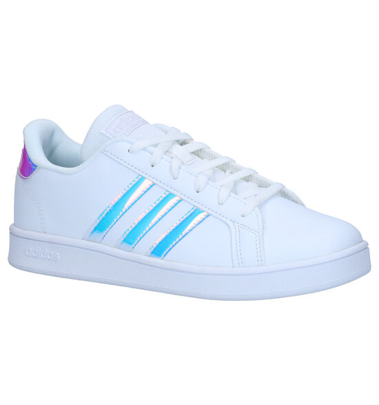 adidas Grand Court K Witte Sneakers