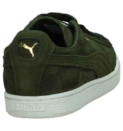 Lage Sneakers Puma Suede Classic Kaki in daim (199473)