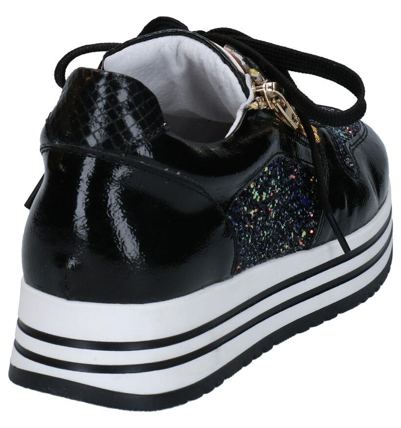Milo & Mila Chaussures basses en Noir en simili cuir (281704)