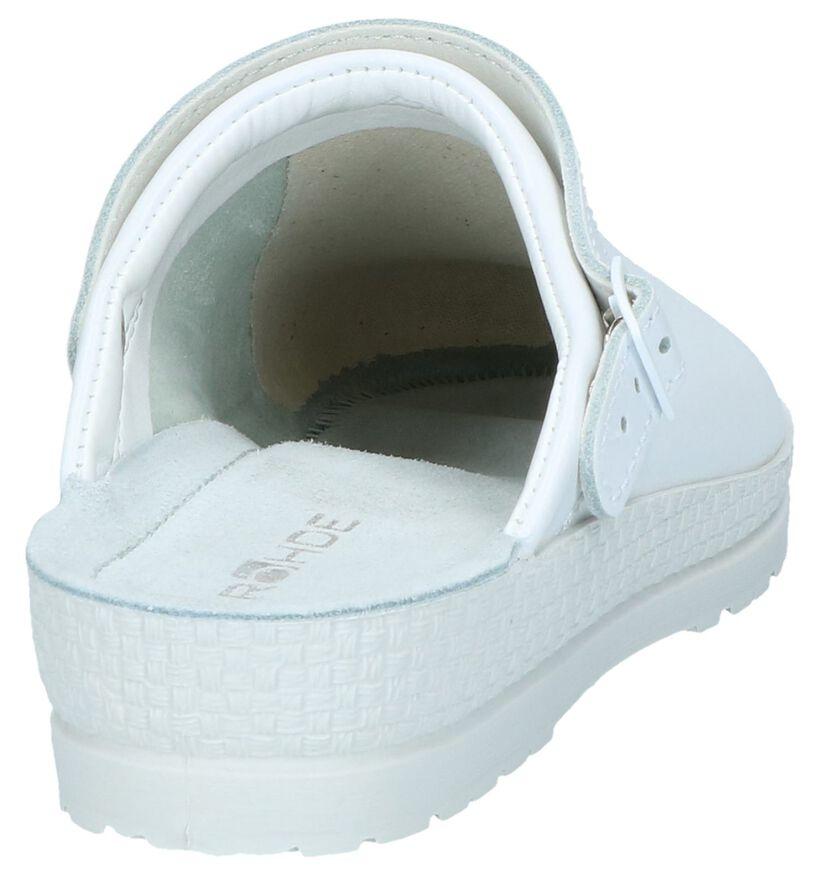 Rohde Pantoufles ouvertes en Blanc en cuir (250635)