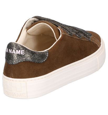 No Name Arcade Gele Sneakers in daim (261480)