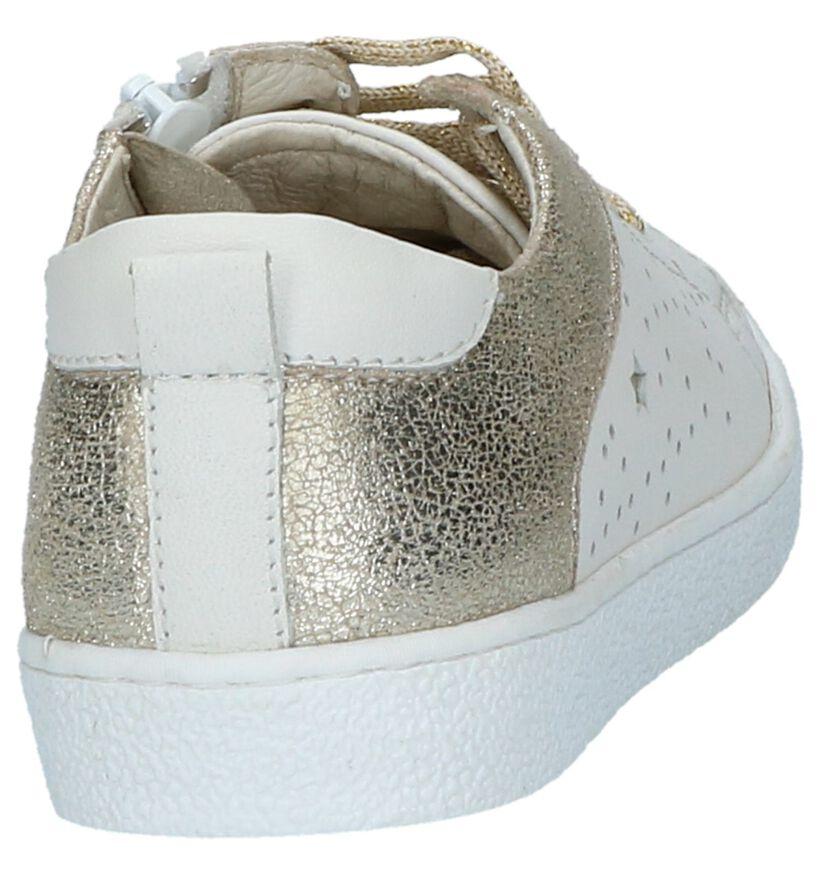 Milo & Mila Sneakers Wit in leer (210051)