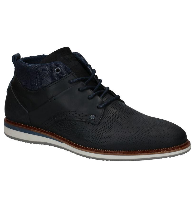 Bullboxer Chaussures hautes en Bleu foncé en cuir (281295)