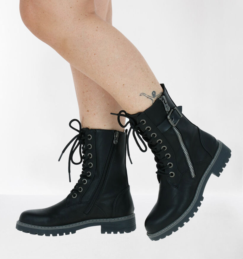 Blowfish Malibu Zwarte Vegan Boots in kunstleer (279215)