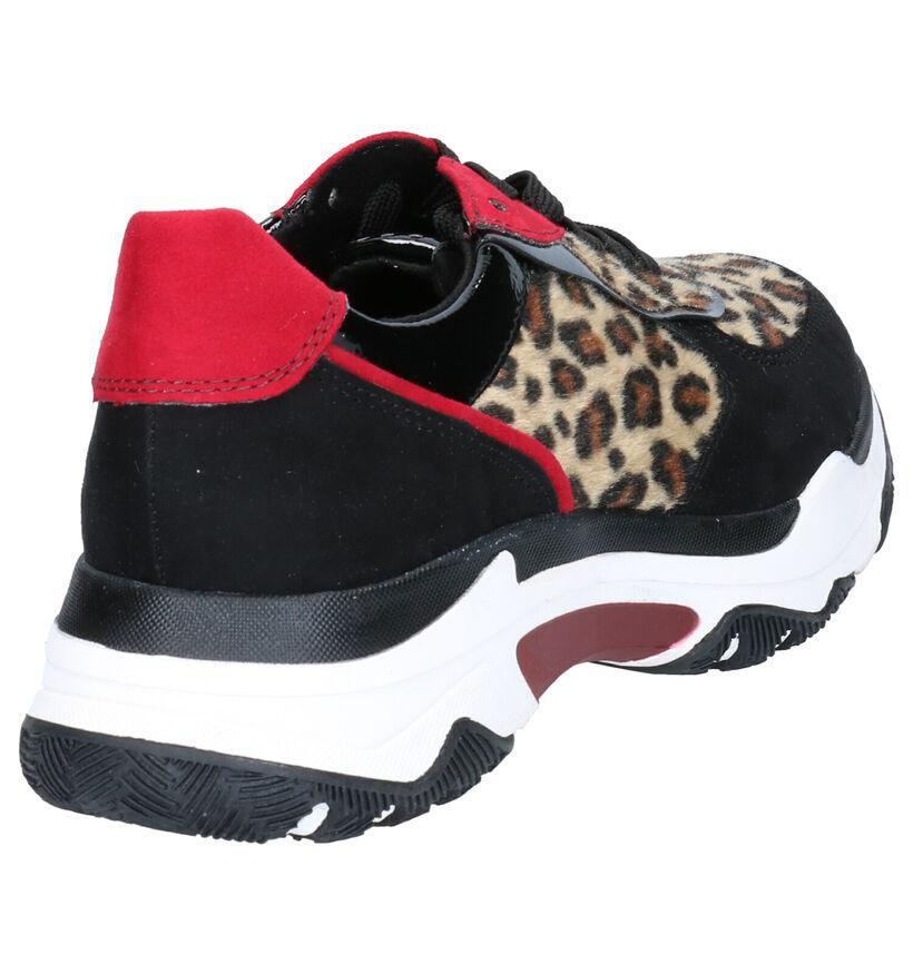 Marco Tozzi Chaussures à lacets en Noir en simili cuir (262775)
