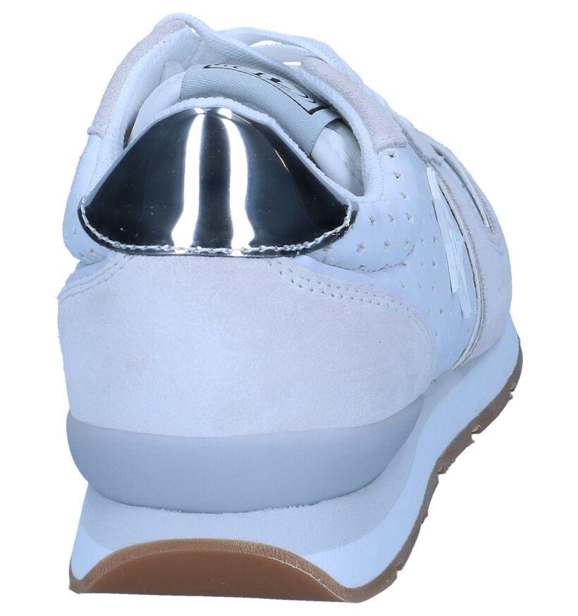 Trussardi Jeans Baskets basses en Blanc en cuir (239601)