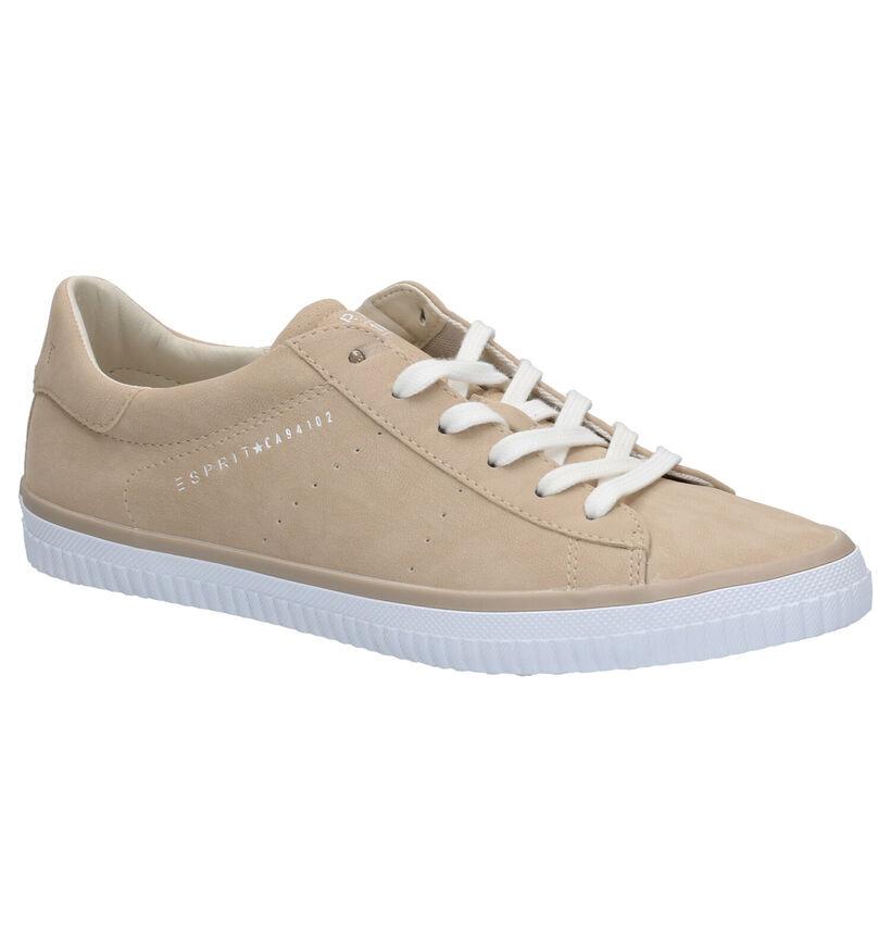 Esprit Chaussures à lacets en Beige foncé en simili cuir (276793)