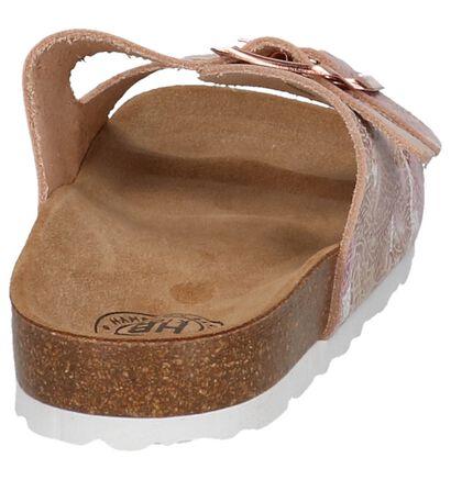 Hampton Bays Nu-pieds plates en Rose en cuir (209309)