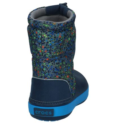 Crocs Crocband Lodgepoint Graphic Donker Blauwe Snowboots, Blauw, pdp