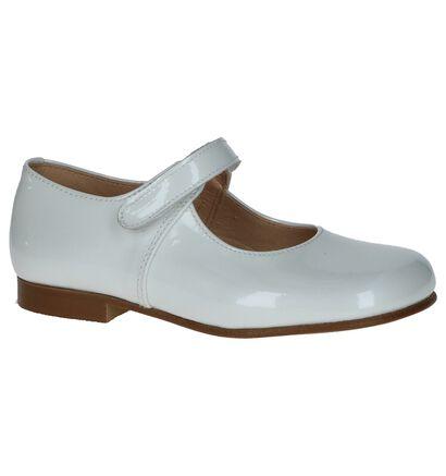Eli Ballerines en Blanc en cuir (245980)