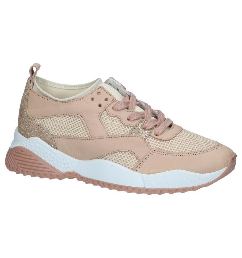 Tango Isabel Roze Sneakers in leer (233583)