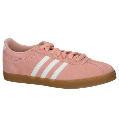 adidas Courtset Zwarte Sneakers in nubuck (221728)