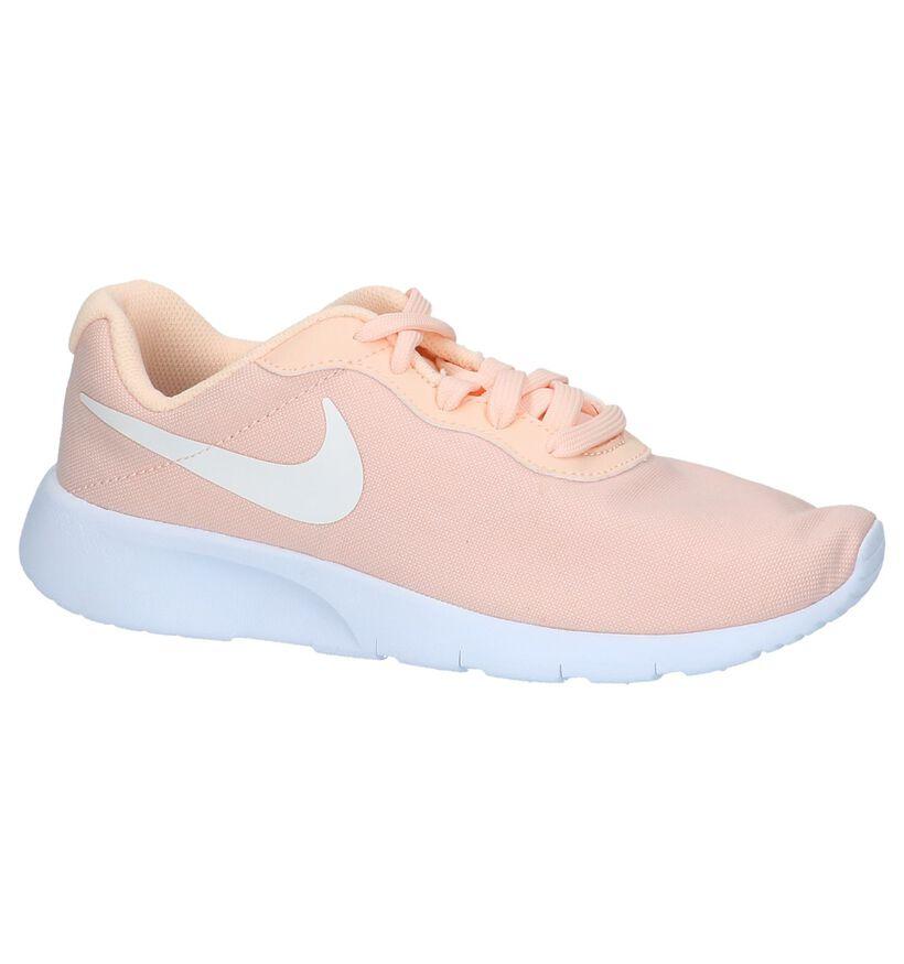 Nike Tanjun Baskets basses en Rose saumon en textile (219620)