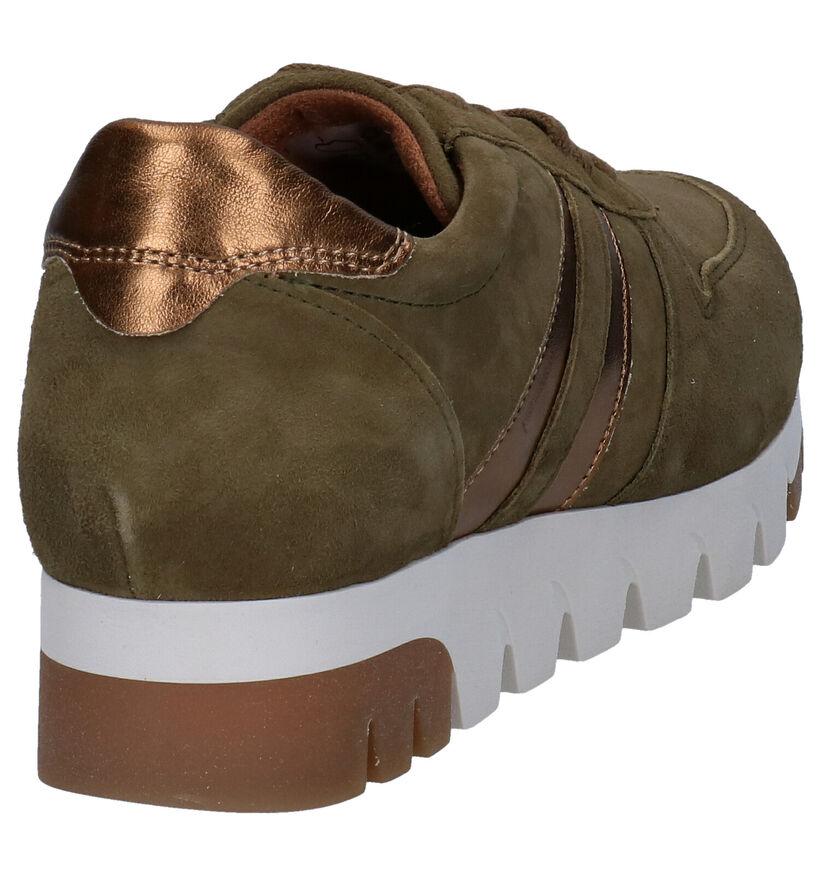 Tamaris Chaussures à lacets en Vert olive en daim (280760)