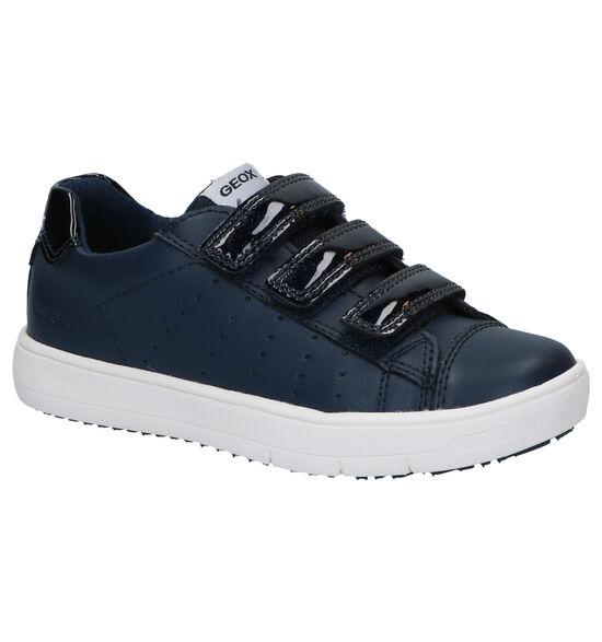 Geox Silenex Chaussures à velcro en Bleu
