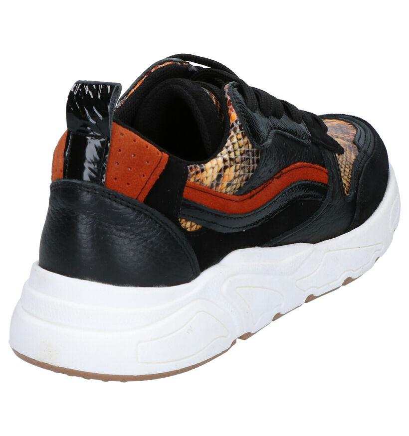 Poelman Zwarte Sneakers in leer (264692)
