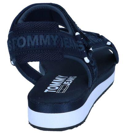 Tommy Jeans Sandales plates en Noir en textile (241768)