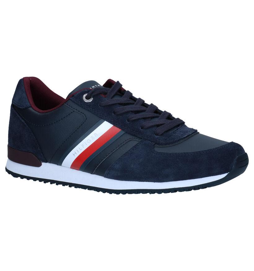 Tommy Hilfiger Iconic Chaussures à lacets en Bleu en simili cuir (279957)