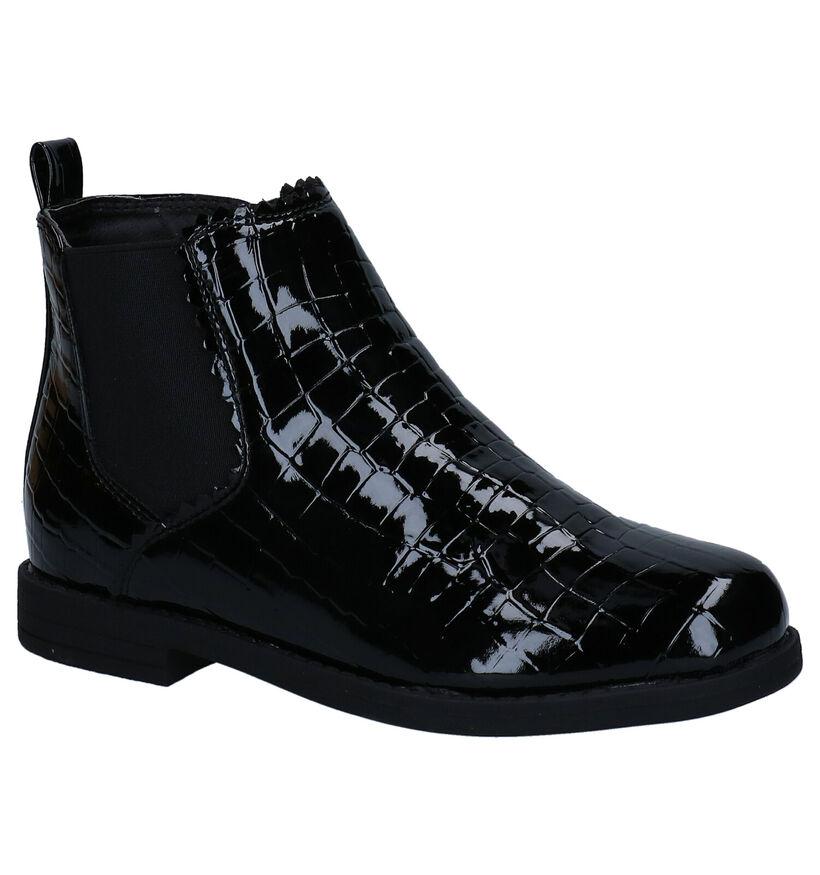 Milo & Mila Zwarte Chelsea Boots in kunstleer (280831)