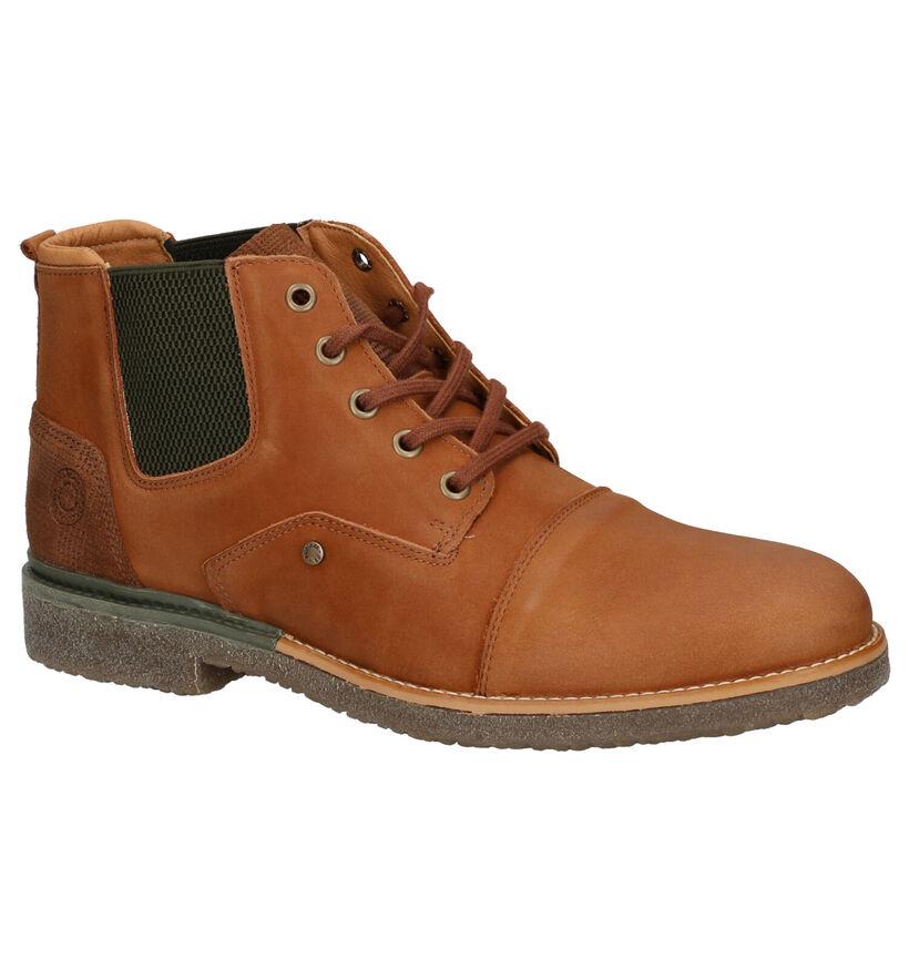 Bullboxer Chaussures hautes en Cognac en nubuck (263560)