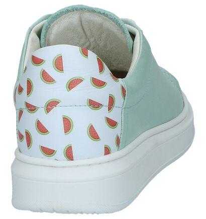 Lichtgroene Geklede Sneakers Milo & Mila in leer (241481)
