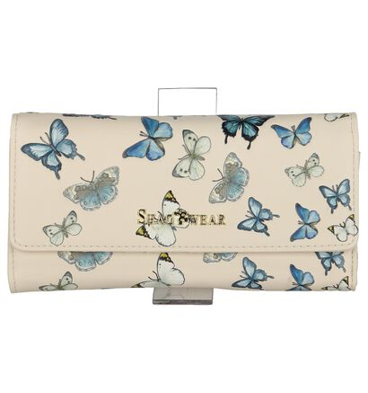 Lichtbeige Clutch Tasje Shagwear Butterflies in kunstleer (232857)