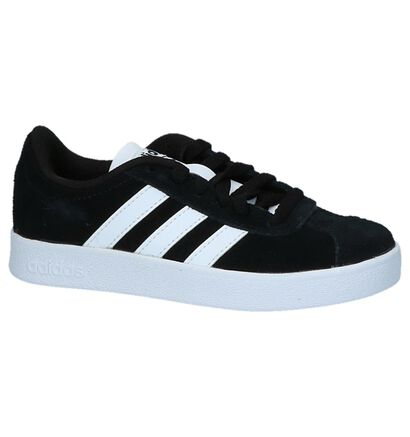 adidas VL Court 2.0 Zwarte Sneakers in imitatieleer (252556)