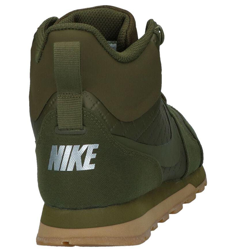 MD Runner Baskets hautes en Vert kaki en simili cuir (233336)