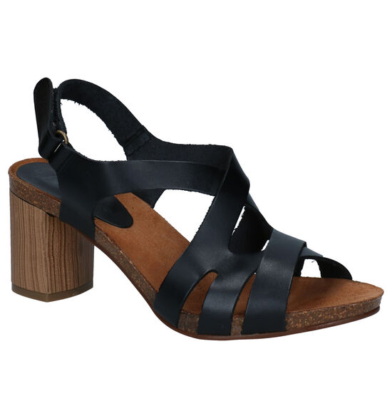 Hee Zwarte Sandalen