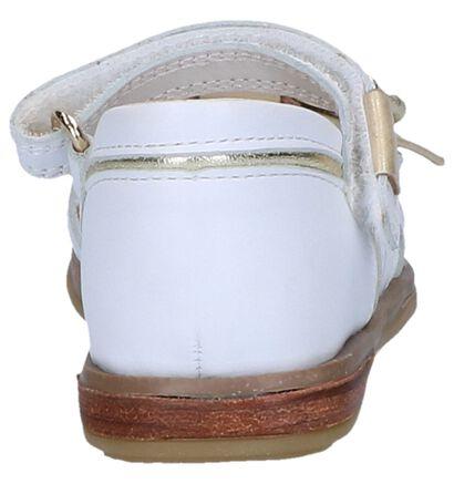 STONES and BONES Sandales en Blanc en cuir (240819)