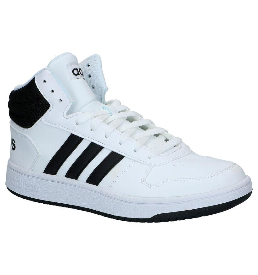 adidas Hoops 2.0 Witte Sneakers in kunstleer (273811)