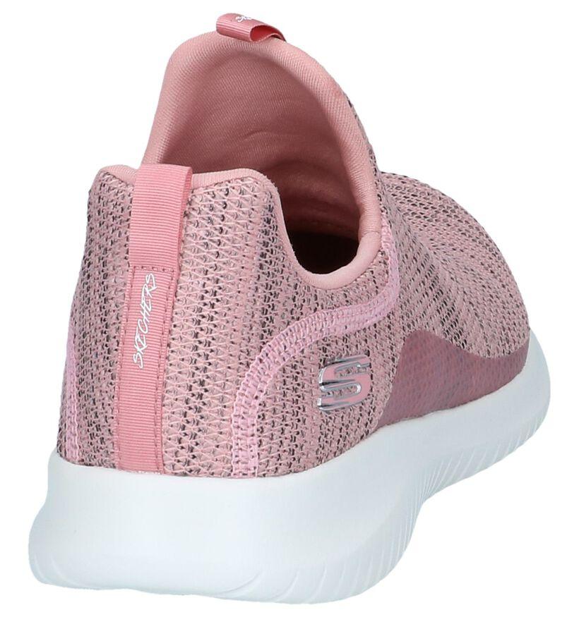 Skechers Memory Foam Baskets slip-on en Rose en textile (252006)